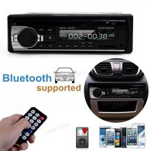 In-Dash Car Stereo Bluetooth Audio Receiver 12V FM Radio Adapter Car MP3 Player with Microphone Support Aux in SD /TF Card USB 12v bluetooth touch screen car radio mp3 player vehicle stereo audio in dash aux input receiver support tf fm usb sd for car aut