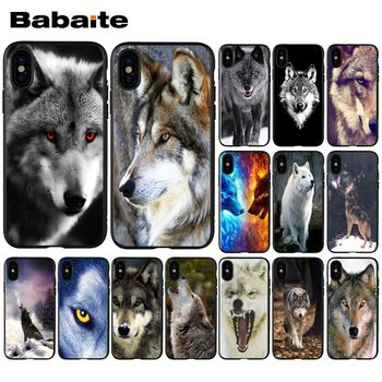 Babaite cool wolf eyes Pattern TPU Phone Accessories Phone Case for Apple iPhone 8 7 6 6S Plus X XS MAX 5 5S SE XR Cellphones image
