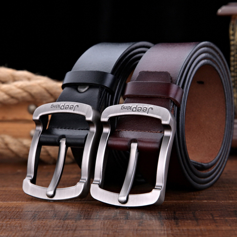 New Designer Best Quality 100% Upper Genuine Leather Belt For Men Luxury Business Mens Belts Fancy Vintage Jeans Belt For Gift