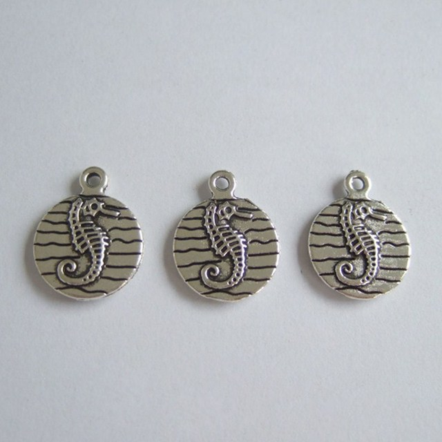 Wholesale lot 30pcs antique silver tone seahorse double sided charms wholesale lot 30pcs antique silver tone seahorse double sided charms pendants beads for jewelry making aloadofball Gallery