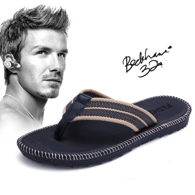 Summer couples men and women fashion trend flip flops slippers non-slip beach sewing cool student clip outside slippers
