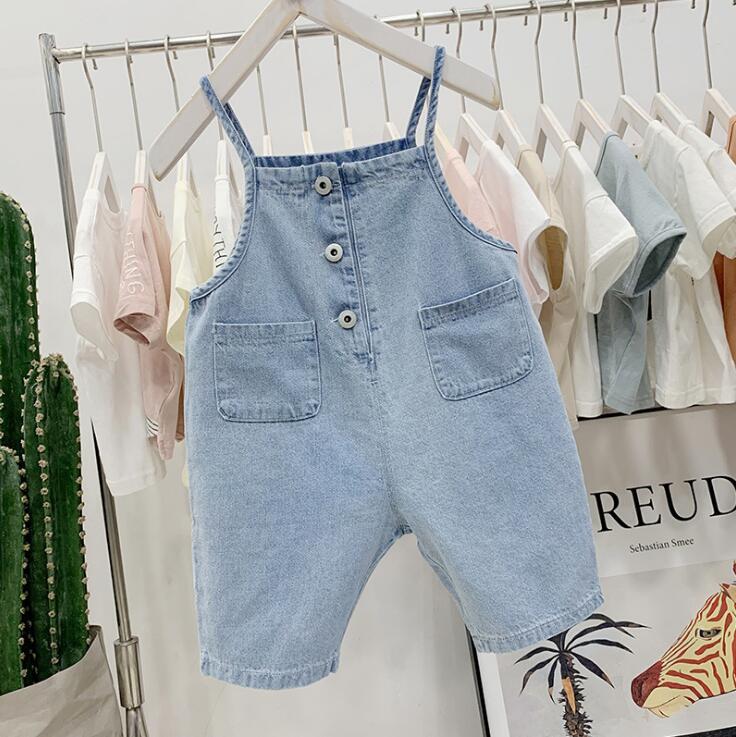 Mutter & Kinder Overalls 2019 Neue Jungen Mädchen Denim Overalls Sommer Mode Kinder Shorts 1-6 Jahre Hq969