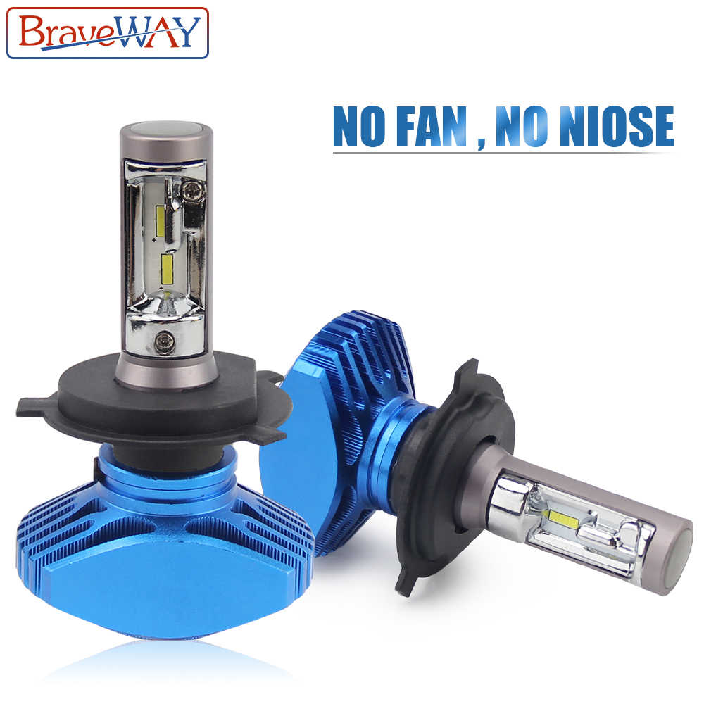 BraveWay LED Bulbs for Motorcycle H1 H4 H7 H8 H9 H11 HB3 HB4 9005 9006 Headlight Ice Lamp Automotivo Fog Lights Car Light 12V