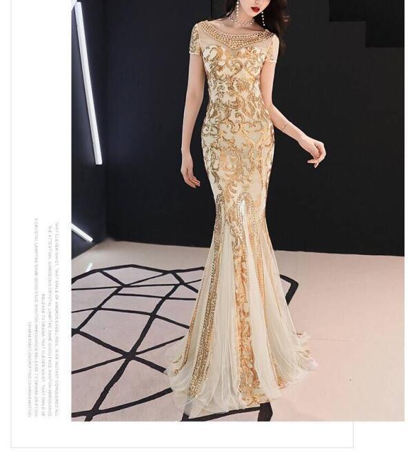 Sexy mode longue robe à paillettes de haute qualité perles élégant Ngiht CLub célébrité moulante soirée mode robe de soirée femmes