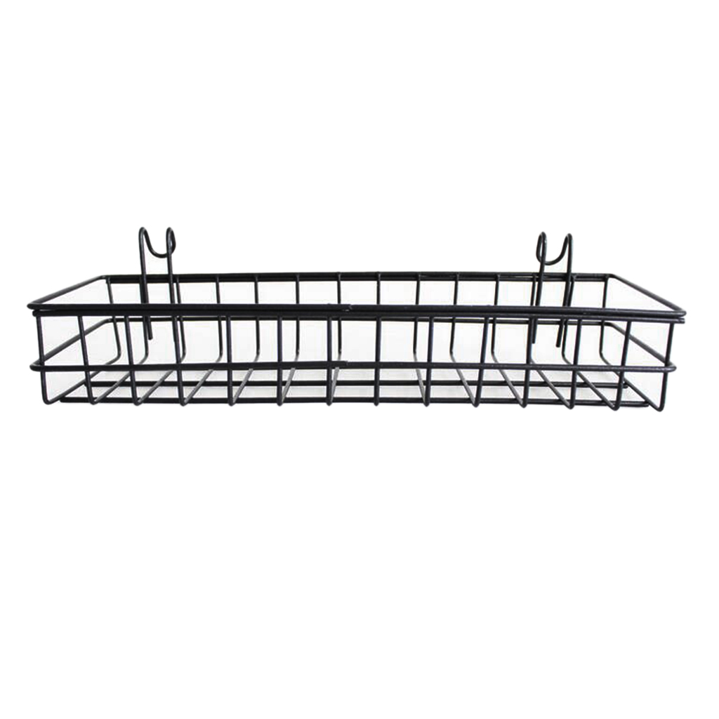 Us 9 2 40 Off Wall Mount Hanging Organizer Wire Metal Storage Shelf Rack Idea For Wall Decor Black In Racks Holders From Home Garden On