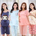 Summer Thin Short Sleeved Maternity Clothing Wholesale Cotton Pajamas Month Pregnant Women Breastfeeding Suits
