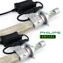 BAOBAO 5S 80w 8000lm Car LED Headlight Kit use philips chips top quality car styling H4 H13 9007 H7 H11 9005 9006 for Volkswagen