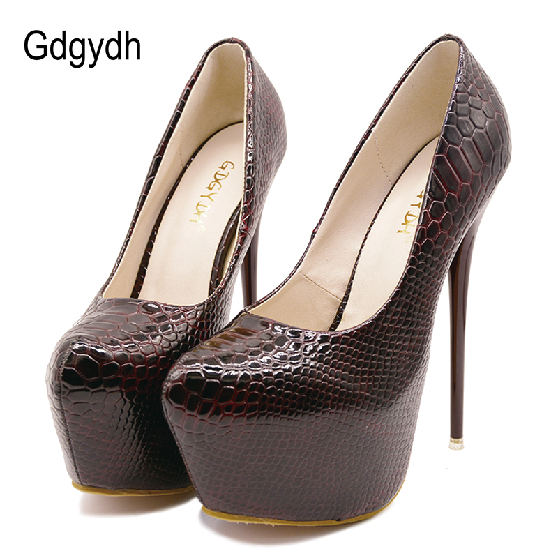 5434756ef70 Gdgydh New Sexy Thin High Heels Shoes Women Pumps 2018 Spring Round Toe  Platform Single Shoes Women Wedding Party