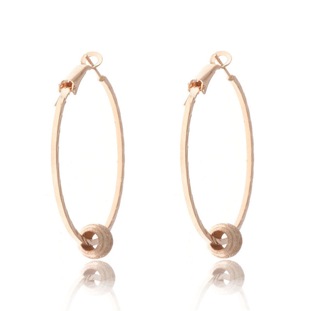 New Fashion Gold Color Big Round Hoop Earrings For Women Girls Simple Large  Circle Chic Ear Piercing Jewelry Gifts e9fefafcedd3