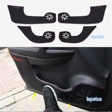 цена на Lapetus Car Inner Door Anti Kick Pad Mat Decoration Cover Trim / Interior Protection Kit Fit For Nissan Qashqai J11 2014 - 2017