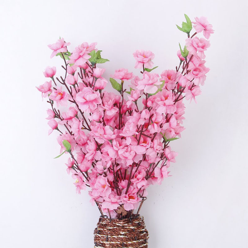 6 Bouquets Artificial Silk Flowers Blossom Cherry Branch