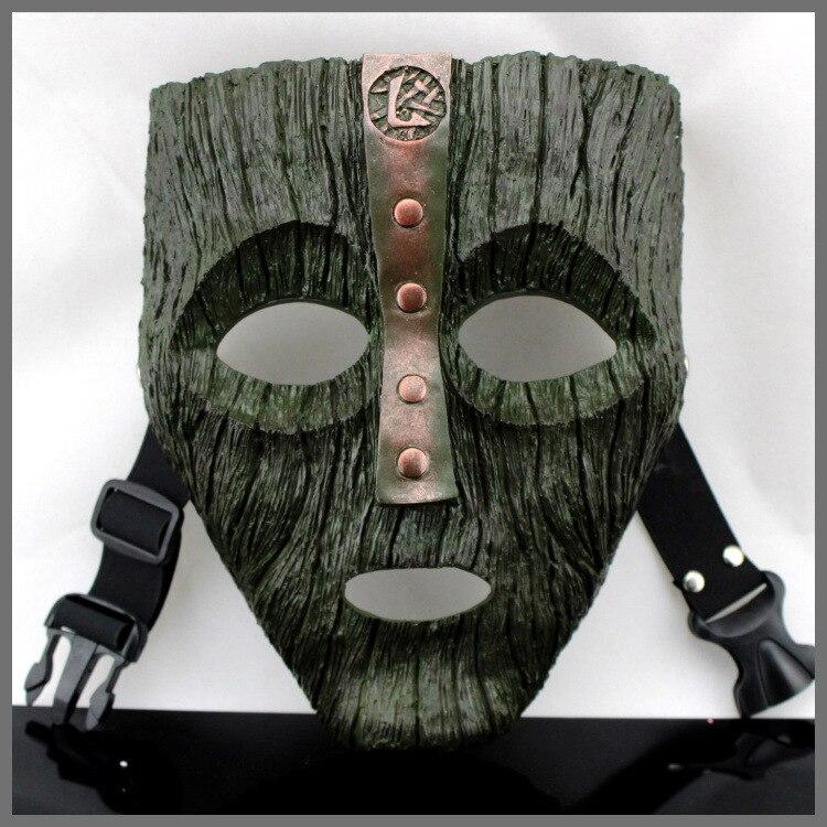 Édition Collective Loki Le Masque Film De Résine Polystone Visage Masque Halloween Haute-fin Cosplay Masque Festival Mascarade Partie noir