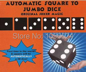 Free Shipping Automatic Square To Jumbo Dice,stage magic props/accessories,close up magic tricks,fun,illusion о ф трифонова городок в табакерке сказки русских писателей