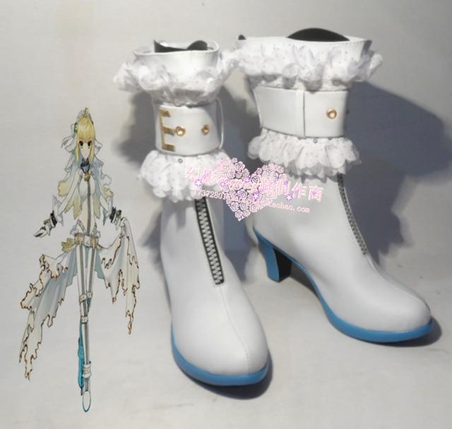 Fate/Extra CCC Saber Bride Saber Nero White Halloween Girls Cosplay ...