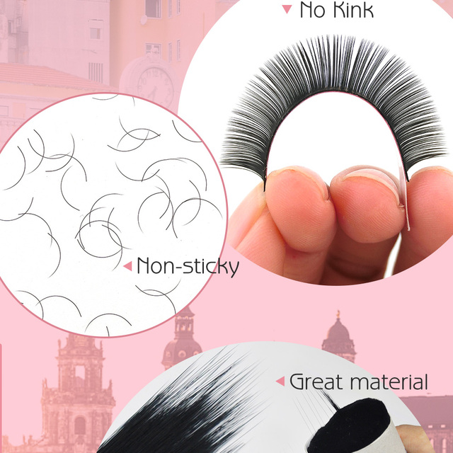 Misslamode 16rows/tray  russian volume eyelash extensions supplies lashes extension individual eyelashes extensions 4