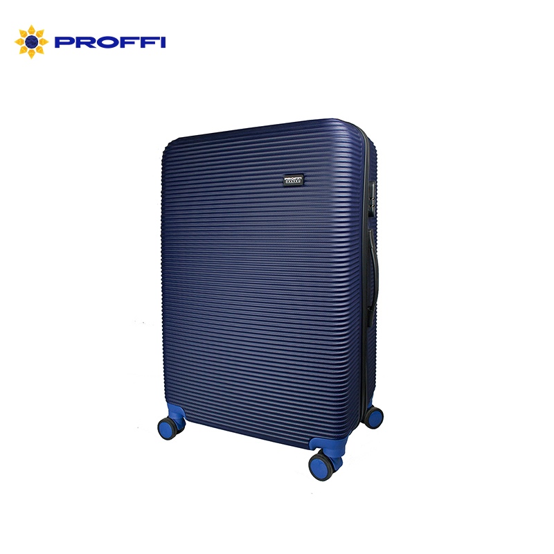 large suitcase PROFFI TRAVEL PH8860navy, L, plastic, blue, with combination lock  on wheels [available from 10 11] black suitcase profi travel ph8866 l plastic with retractable handle on wheels