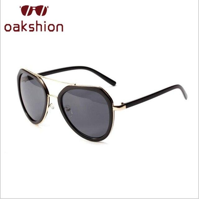 9ed99ec280 Oakshion diseñador hombres oval aviador Gafas de sol UV400 grandes Marcos  piloto Sol Gafas para las