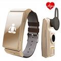 Original u20 umini bt4.0 uwatch smartwatch smart watch correa de cuero auriculares monitor de sueño aptitud para ios android teléfono móvil