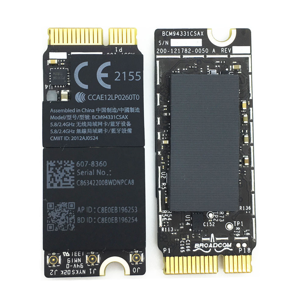 """MacBook Pro 15/"""" Retina Airport and Bluetooth Wireless Card for A1398 2012-2013"""