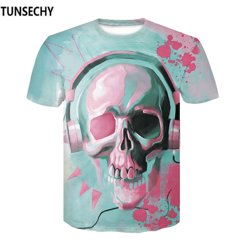 TUNSECHY 2018 casual men T-shirts Round collar short sleeve clothing fashion compression tight T-shirts Free transportation