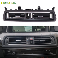 Black silver front center air outlet vent dash panel grille cover trim frame accessories for BMW 5 Series F10 F18 523 525 535