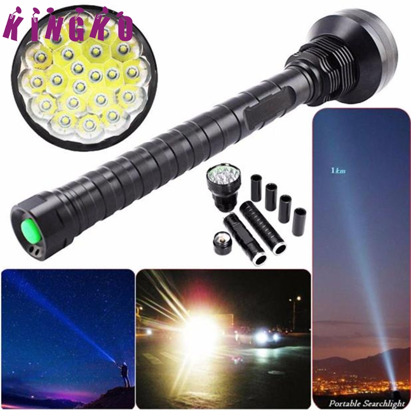 Super 26000LM CREE XM-L LED 21x T6 Super Flashlight Torch Lamp Light 5Mode 26650 18650 self defense flashlight 5 mode 2000lm cree xm l t6 led 18650 26650 battery waterproof high power torch lamp linternas