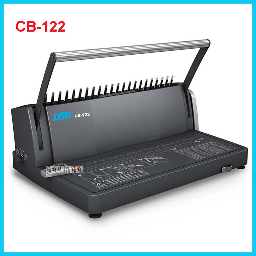 CB-122 Comb Binding Machine CB-122 Manual A4 Binds 450 Sheets Punches 12 Sheets / 2 sheets PVC cover Office Comb-type punching