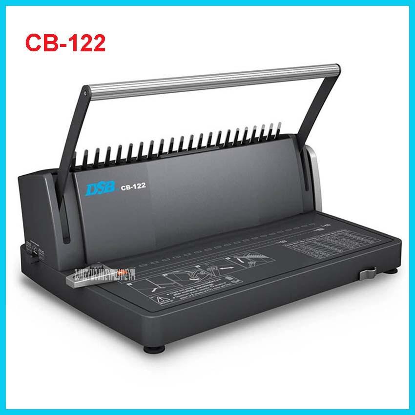 все цены на  CB-122 Comb Binding Machine CB-122 Manual A4 Binds 450 Sheets Punches 12 Sheets  / 2 sheets PVC cover Office Comb-type punching  онлайн