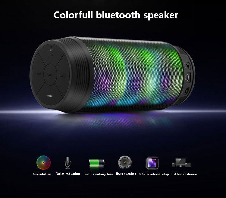 with mic colorful Waterproof Bluetooth Speaker Wireless NFC Super Bass Subwoofer Outdoor Sport Sound Box FM Portable Speaker portable wireless bluetooth column speaker stereo subwoofer support usb sound box tf fm radio with mic dual bass loudspeaker