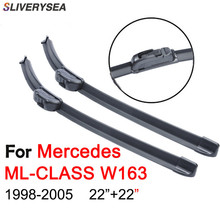 SLIVERYSEA For Mercedes ML W163 1998-2005 22+22 Auto Wipers Accessories Rubber Windscreen Windshield Wiper CPU105
