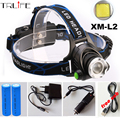 5000LM HeadLight headLamp CREE XM-L2 LED Lamp Flashlight Light L2 Headlamp 3 mode led light + AC / Car charger + 2*18650 Battery