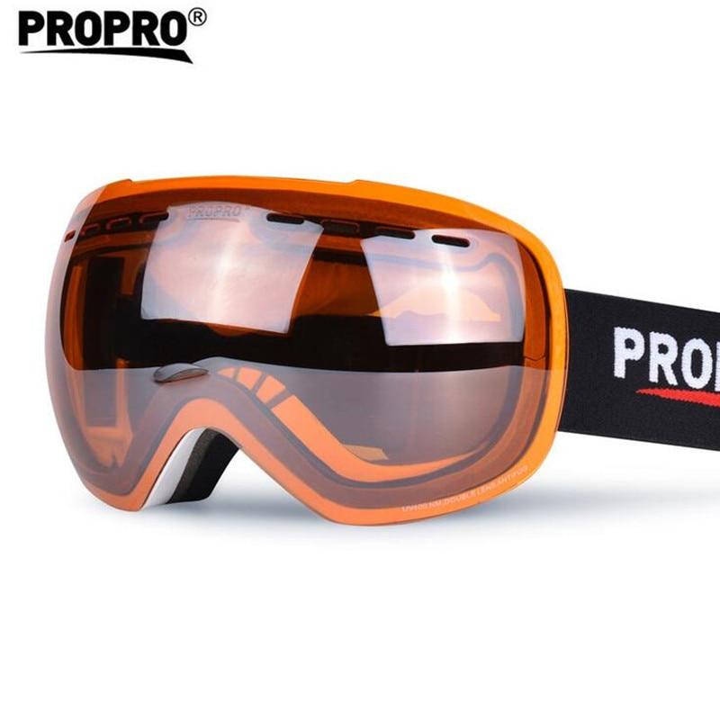 Ski Goggles Large Spherical PC Double Layer Lens Anti Fog UV400 Snow Glasses Men Women font