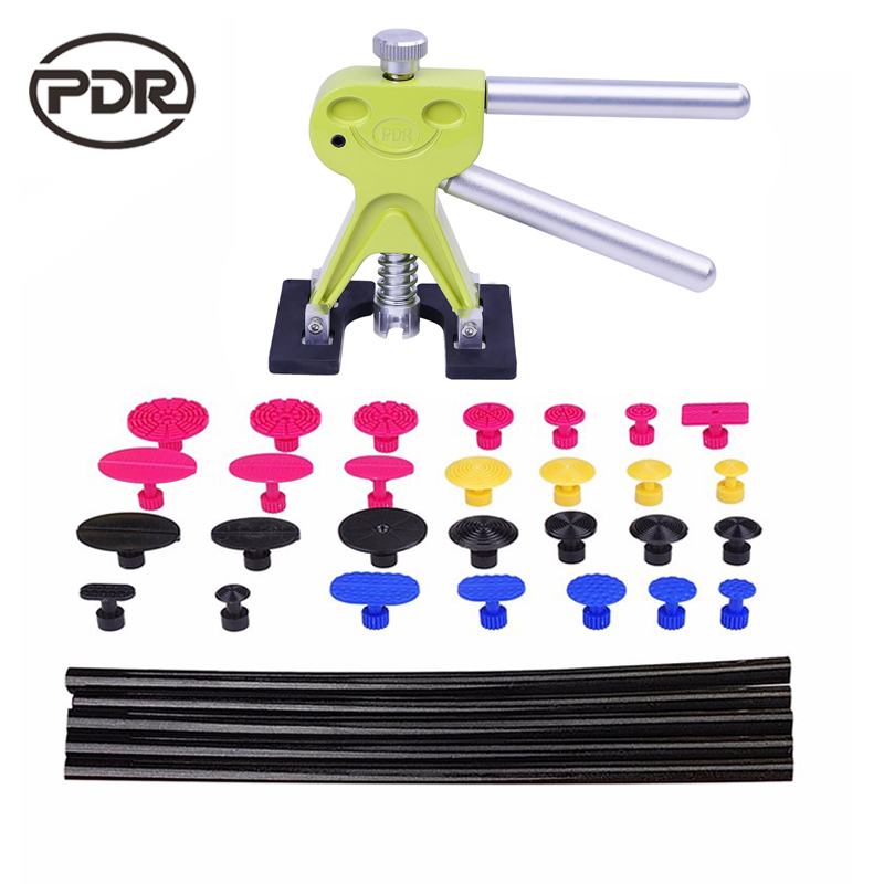 PDR Tools For Car Kit Dent Lifter Glue Tabs Suction Cup Hot Melt Glue Sticks Paintless Dent Repair Tools Hand Tools Set  pdr tools for car kit dent lifter glue tabs suction cup hot melt glue sticks paintless dent repair tools hand tools set