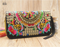 XIYUAN BRAND Hot New Embroidered FEMALE Wallet Purse Handmade Ethnic Flowers Embroidery Women Long Wallet Day Clutch HandBag