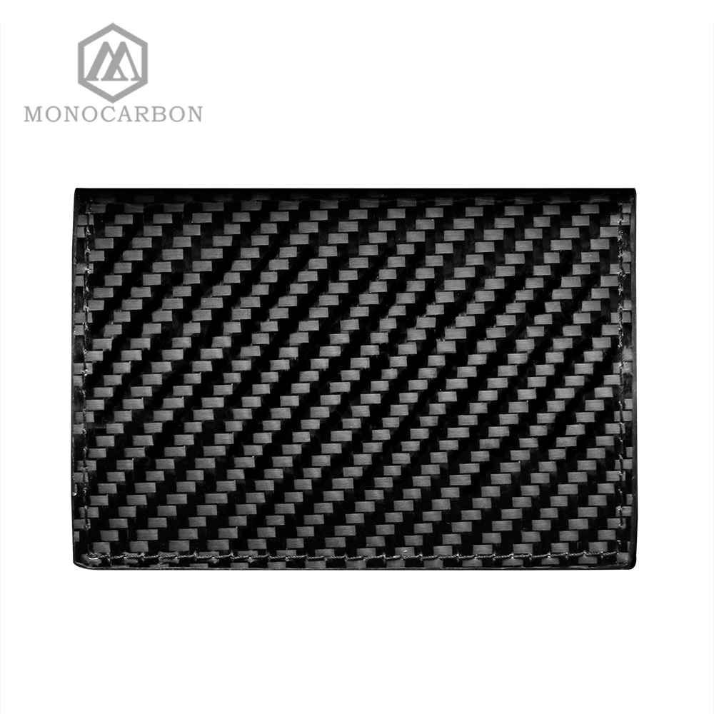 Image 4 - Monocarbon Carbon Fiber Name Card Box Holder Cardcase Luxury Business Card Holder Case Men Visiting Card Case Box-in Card & ID Holders from Luggage & Bags