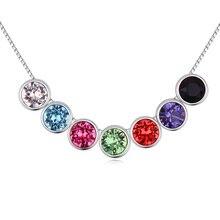 Nueva llegada Original Swarovski Elements colorido Crystal collares Vintage declaración de mujeres mujeres joyería