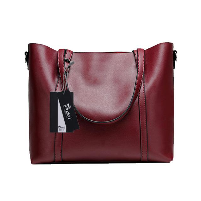 High Quality Soft Genuine Leather Women's Shoulder Bag First Cow Skin Bags For Women Large Famous Brand designer Ladies Handbag