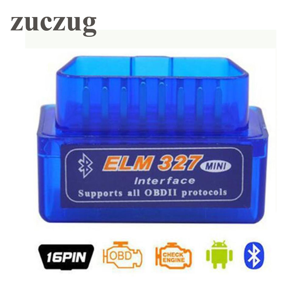Hot selling Mini ELM327 OBD2 OBDII ELM 327 Bluetooth V2.1 Diagnostic Scanner Tool For Multi Brand Cars Android Symbian Windows