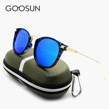 GOOSUN Fashion Round Polarized Sunglasses Women Brand Designer Driving Mirror Points Sunglass Black Eyewear UV400 Sun Glasses