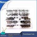 100 pçs/caixa Stainess aço Completo Relógio de Multi-dimensões Coroas, 3.0-8.0mm Relógios para Peças Coroa para relojoeiro Substituição