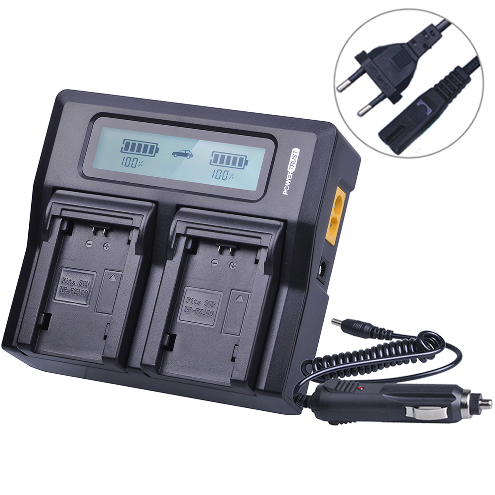 NP-FZ100 NP FZ100 FZ100 Rapid LCD Dual Charger for Sony NP-FZ100 BC-QZ1 Alpha 9 A9 Alpha 9R A9R Alpha 9S Camera Batteries