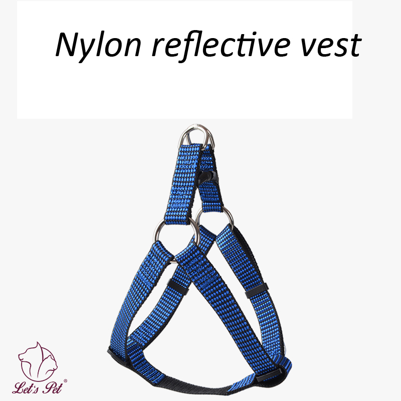 Nylon Dog Reflective Harness Pets Vest Out Door Durable Dog Harnesses Keep Night Safe for Small Large Dogs Supplies