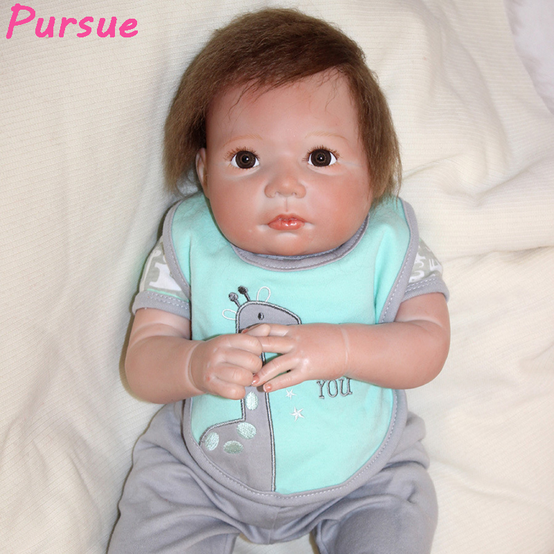 Pursue 50 cm Lovely 100 Silicone Reborn Babies Silicone Toddler Baby Dolls Gift for Children for Sale bebe reborn realista 50 cm free shipping hot sale real silicon baby dolls 55cm 22inch npk brand lifelike lovely reborn dolls babies toys for children gift