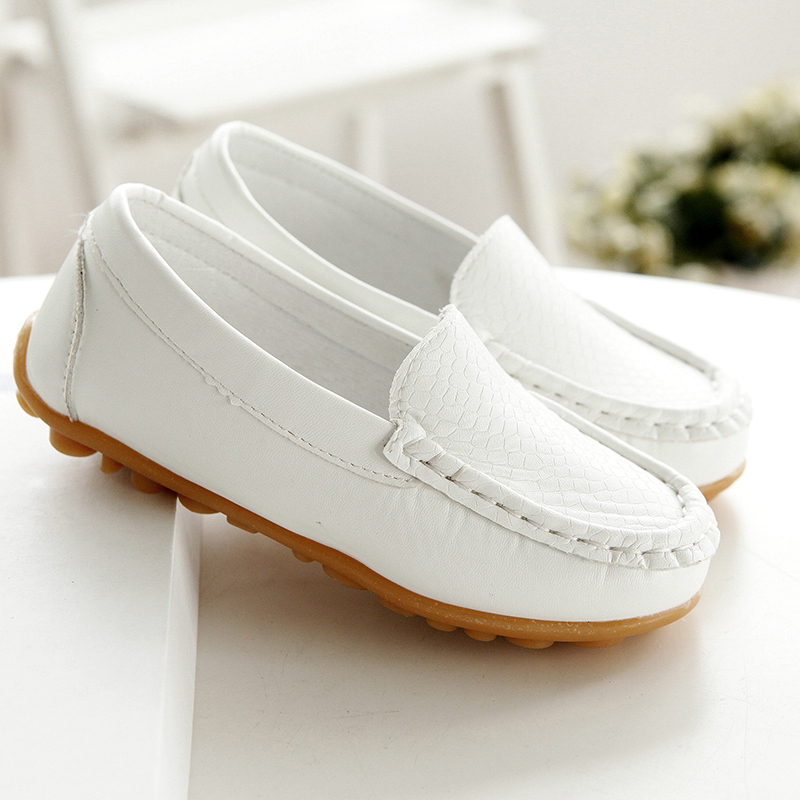 Kids Moccasin Loafers Shoes Children PU