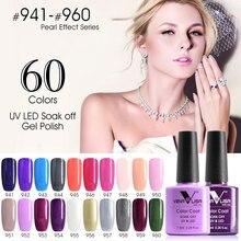 #61508 Gel de Uñas Orgánica Polaco CANNI Fábrica Nail Art Salon Venalisa Inodoro de 60 Colores 7.5 ml empapa de UV LED Gel Esmalte de Uñas