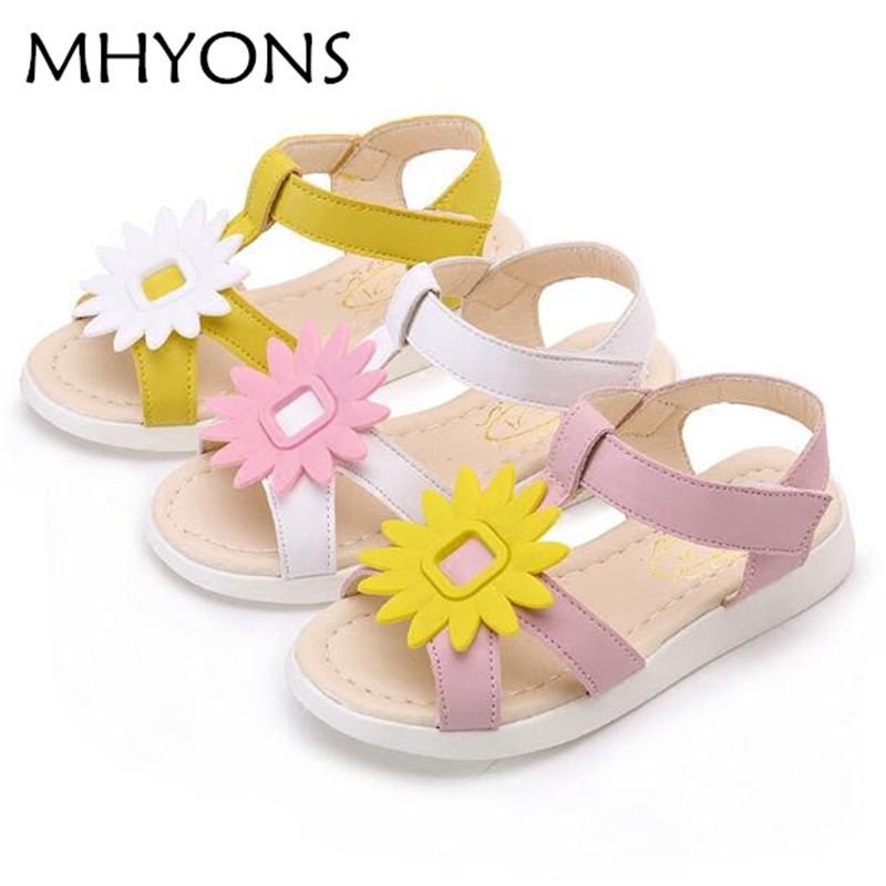 NEW 1pair Flower Children Sandals Genuine Leather Shoes