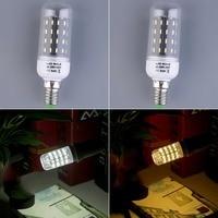 8pcs E14 7W 56 SMD 4014 Corn LED Light Lamp Bulbs 220V 240V With Cover