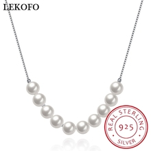 2017 Fashion Natural Freshwater Pearl 925 Sterling Silver Necklace Simple Style Silver Jewelry 2017 New Arrivals