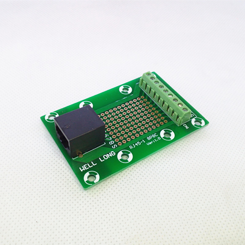 24x RJ45 Connectors Breakout Board 8P8C Module for Ethernet Jacks