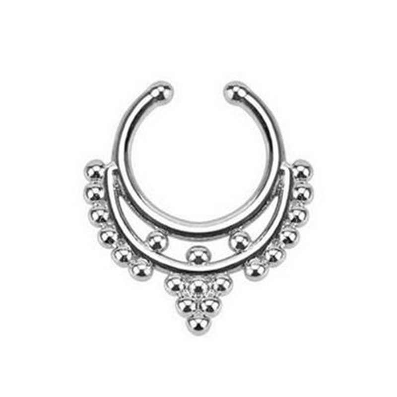 Fake Piercing Nose Ring Septum For Women Body Jewelry Industrial Piercing Nariz Ear Rings Jewellery Sieraden Bijoux Femme Aretes